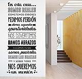 MYVINILO - Vinilo decorativo - Somos reales / Negro (55x132cm)