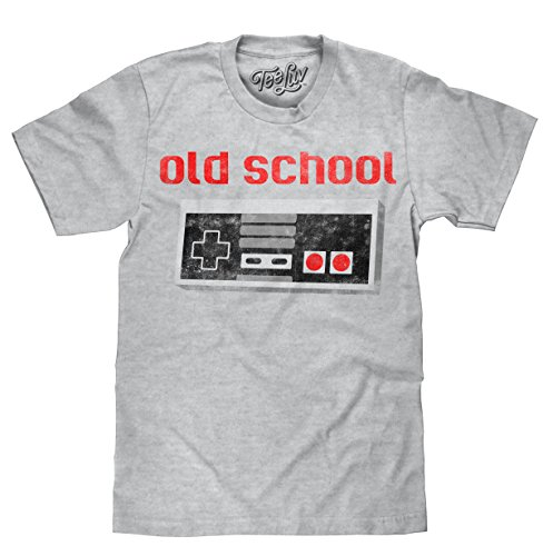 Tee Luv Old School Video Game Novelty T-Shirt - Distressed 80s Graphic Tee Shirt (SM)