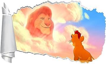 The Lion Guard Kion Disney 3D Torn Hole Ripped Wall Sticker Decal Art WT166