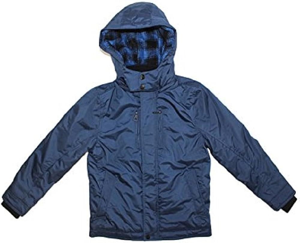Urban Republic Boy's Heavy Weight Fleece Lined Hooded Jacket (Navy, Medium (10/12))