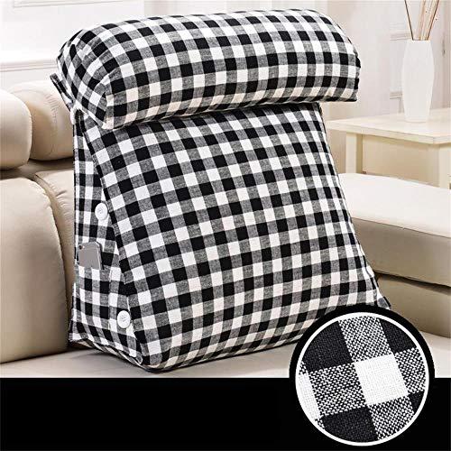 Pillow Almohadas Decorativas Cojín Suave Bolsa Triangle Bed Almohada Cintura Auxiliar de oficinas Sofá Grande Amortiguador Trasero Desmontable y Lavable Accesorios de casa