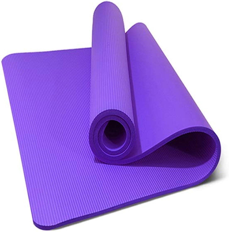 HIAO rutschfest Doppel Yogamatte Trage Es Mit Dir Spitze Umweltschutz Rucksack 15 Mm Geschmacklos Feuchtigkeitsfest Langlebig Leichtgewicht Sport Fitness 130 cm Breit (Farbe   Lila)