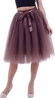 570b28848 Amazon.es: falda tutu mujer - Marrón
