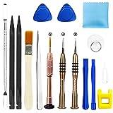 16 en 1 Kit de Tournevis Outils Ouverture Démontage LCD Réparation Tournevis Réparation Outils pour iPhone 4 / 4S / 5 / 5C / 5S / 6/6 Plus /7/7 Plus/ 6S, iPod, Smartphones, Tablettes