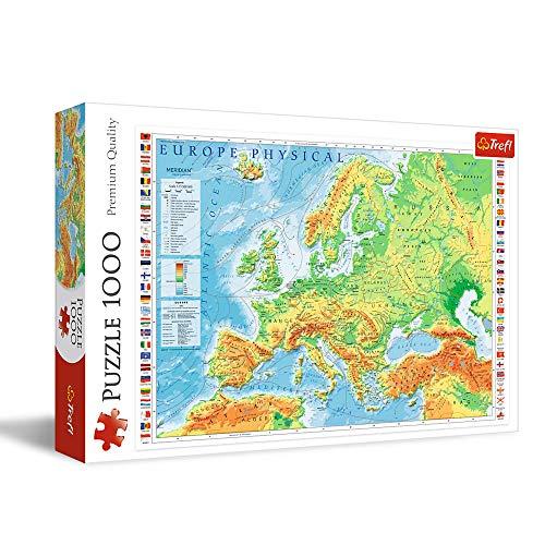 Trefl TR10605 Europakarte 1000 Teile, Premium Quality, für Erwachsene und Kinder ab 12 Jahren Puzzle, Farbig