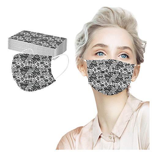 eiuEQIU 50 unidades de protección bucal de punta, antiniebla, unisex, 3 capas, transpirable, bandana para el cuello para mujeres y hombres