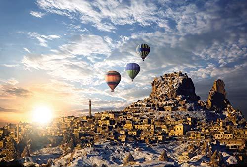 YXLY Feuerballon Puzzle 1000 Stück Holzpuzzles High Definition Puzzle Erwachsenen Kinder Lernspielzeug Puzzle Spiel Feuerballon