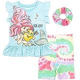 Disney Princess Ariel The Little Mermaid Toddler Girls T-Shirt Shorts Scrunchie 5T