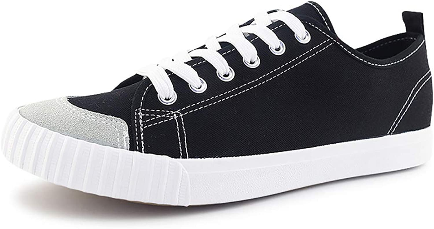 HuiLi (Warrior) Unisex Classic Canvas Sneaker Couple Rubber Casual Sports shoes Flat Low Heel shoes