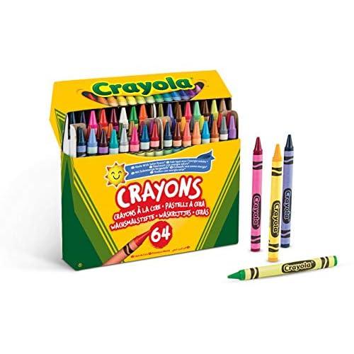 CRAYOLA 64 Pastelli a Cera, per Scuola e Tempo Libero, Multicolore, One Size, 52-6448
