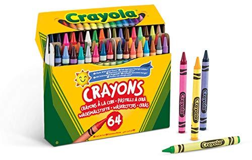 Crayola -64 Wachsmalstifte, für Schule und Freizeit, mehrfarbig, 52-6448