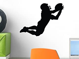 Wallmonkeys Football Silhouette Wall Decal Peel and Stick Graphic (12 in W x 9 in H) WM291857