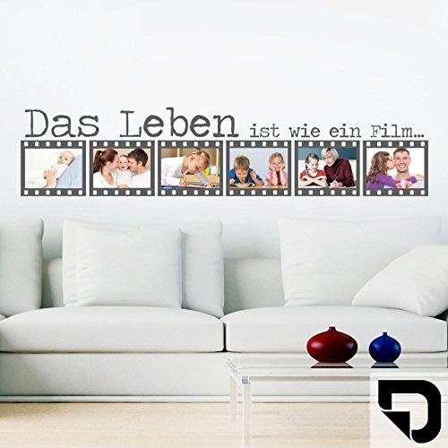DESIGNSCAPE® Wandtattoo Fotorahmen - Filmrolle - Bilder - Erinnerungen 140 x 31 cm (Breite x Höhe) schwarz DW807127-L-F4