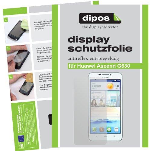 dipos I 2X Schutzfolie matt kompatibel mit Huawei Ascend G630 Folie Bildschirmschutzfolie