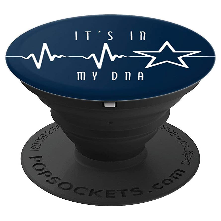 Texas Cowboy Heartbeat with Lonestar, Its In My DNA - PopSockets Grip and Stand for Phones and Tablets