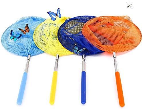Red de Mariposas,Butterfly Net 4 Pack Extensible Redes de Pesca con Antideslizante...