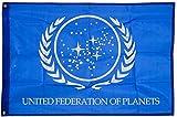 United Federation of Planets Flagge, exklusives Star Trek-Merchandise für Innen- und Außenbereich, 100% Polyester, 91,4 x 152,4 cm