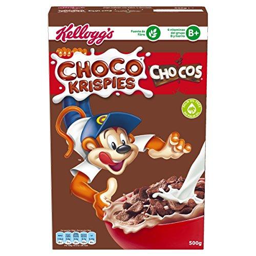 Kellogg's Choco Krispies Chocos - Cereales de trigo tostado con sabor a chocolate - Paquete 450 g