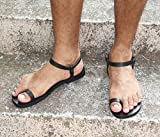 Men Sexy Leather Sandals, Toe Ring, Barefoot Style Ankle Strap Sandals - DREAM
