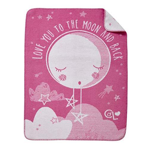 Clair de Lune Couverture en polaire pour bébé, Rose, par Rapport à la lune