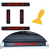 for Jeep Compass Patriot Wrangler Sahara Rubicon Grand Cherokee Carbon Fiber Door Sill Protector Scratch Door Sill Guard 4D Welcome Pedals Guards Threshold Sticker Sticker Red 4Pcs