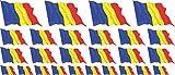 Mini bandiere/bandiere insieme - bandiera sventolante - 4x 51x31mm+ 12x 33x20mm + 10x 20x1...