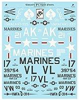"""フライングレザーネックス デカール 1/32 米海兵隊 スカイレイダー&ホーネット""""チェスティ・プラーのアイアンフィスト"""