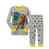 "kidsmall ""Dinosaur Baby Boys Cotton Pajama Set Sleepwear 2T-7T"