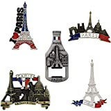 5 Pack Refrigerator Magnets Paris Travel Souvenirs