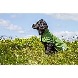 Dog & Field™ Duel Layer Towelling Dog Coat – Microfiber Lined Fleece Pet Drying Jacket XS – XXL Sizes