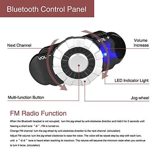 Motorcycle Bluetooth Helmet, FreedConn BM2-S Bluetooth Integrated Modular Flip up Dual Visors Full Face Motorcycle Helmet Built-in Intercom Communication Range 500M FM Radio (Large, Matte Black)
