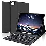 Teclado Funda para iPad Air 4 10.9 Pulgadas(2020),SENGBIRCH Español Teclado Bluetooth con...