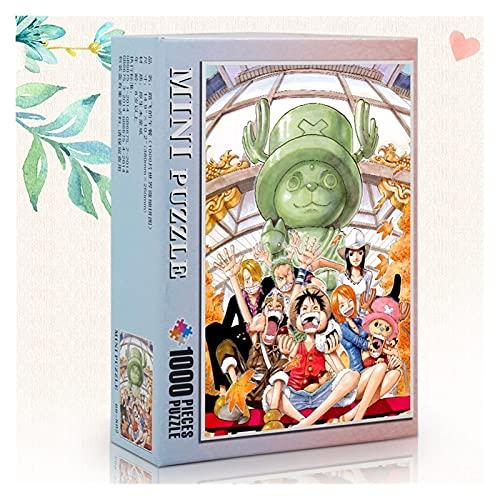 Pkssswd Dessin animé Anime One Piece Monkey D. Luffy, Puzzle de Jigsaw en Bois, 1000 Plan Puzzle, Puzzle de décompression Adulte Puzzle, Jouets éducatifs pour Enfants, Cadeaux d'anniversaire -B