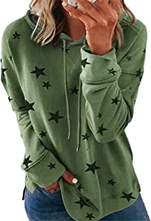Youdiao Womens Hoodies Sweatshirt-Striped Drawstring Loose Soft-Long Sleeve Pullover Hooded-Casual Hoodies Sweatshirt Tops