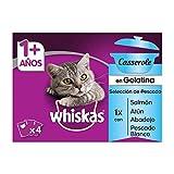 Whiskas Casserole Comida Húmeda para Gatos Adultos Selección Pescados, Multipack (13 cajas x 4 sobres x 85g)
