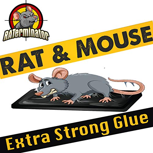 2 Jumbo Mouse Rat Glue Traps | Jumbo Trap no See Kill | Glue Traps | Sticky mice Traps for House | Works for Rats Mice Snakes Rodents Insects Bug Gophers Moles | Mouse Killer (Jumbo (2 Pack))
