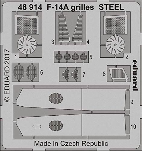 エデュアルド 1/48 F-14A用グリル ステンレス製 タミヤ用 プラモデル用パーツ EDU48914