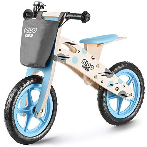 Ricokids Bicicleta infantil de madera RC-612