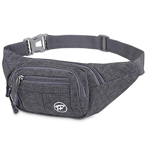 Bingsale Gürteltasche, Fmway Bauchtasche Reisetasche Multifunktionale Hüfttasche 4 Fächer mit Reißverschluss (shwarz) (schwarz)