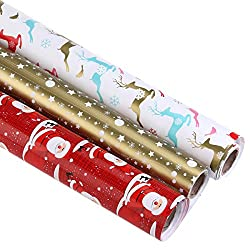 NiceXmas Christmas Wrapping Paper Roll