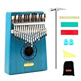 QStyle Kalimba 17 Key Thumb Piano Include Tuning kit Hammer and Study Instruction & Simple Sheet Music Suitable for kids Adult Beginners,...