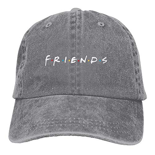 Waldeal Women's Friends Baseball Caps Embroidered Adjustable Washed Vintage Ball Cap Dad Hat Gifts Grey