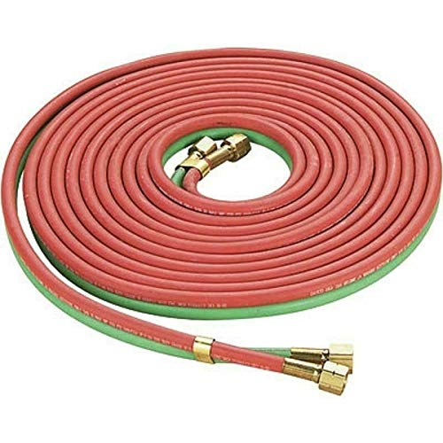 Red & Green Twin Welding Torch Hose Oxygen Acetylene Oxy 25' 1/4' for Cutting