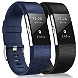 Bracelet Fitbit Charge 2, bracelet de remplacement multicolore pour Fitbit Charge 2, 12-Black,Blue