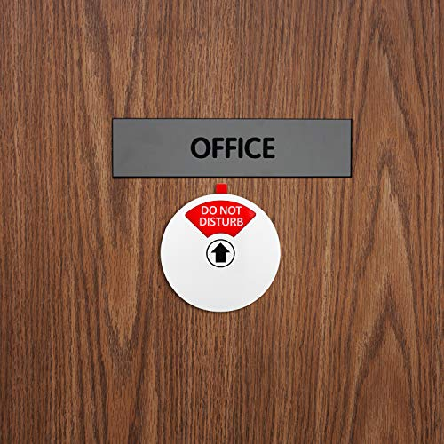 Kichwit Privacy Sign, Do Not Disturb Sign, Out of Office Sign, Please Knock Sign, In a Meeting Sign, Office Sign, Conference Sign for Offices, 5 Inch, Silver Photo #7