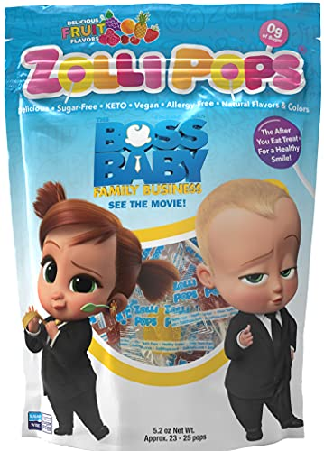 Zollipops The Clean Teeth Pops, Anti Cavity Lollipops, Delicious Assorted Flavors, Variety, 25 Count from OTC Liquids, LLC