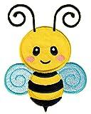 PatchMommy Biene Patch Aufnäher Applikation Bügelbild - zum Aufbügeln oder Aufnähen - für Kinder/Baby