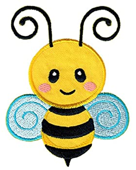 PatchMommy Bee Patch Iron On/Sew On - Appliques for Kids Children