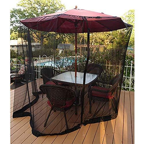 Mosquito net for Parasol, Parasol Mosquito Net Patio Umbrella Cover Mosquito Netting Screen for Patio Table Umbrella Garden Deck Furniture Zippered Mesh Enclosure Bug Netting Cover