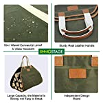 INNO STAGE Canvas Log Carrier Bag,Waxed Durable Wood Tote,Fireplace Stove Accessories,Extra Large Firewood Holder with… 3